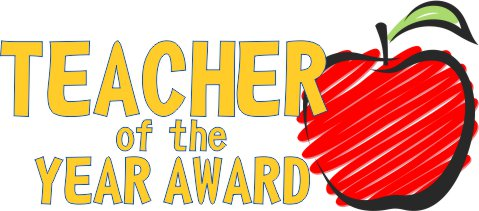 Awards clipart teacher. Of the year guidelines