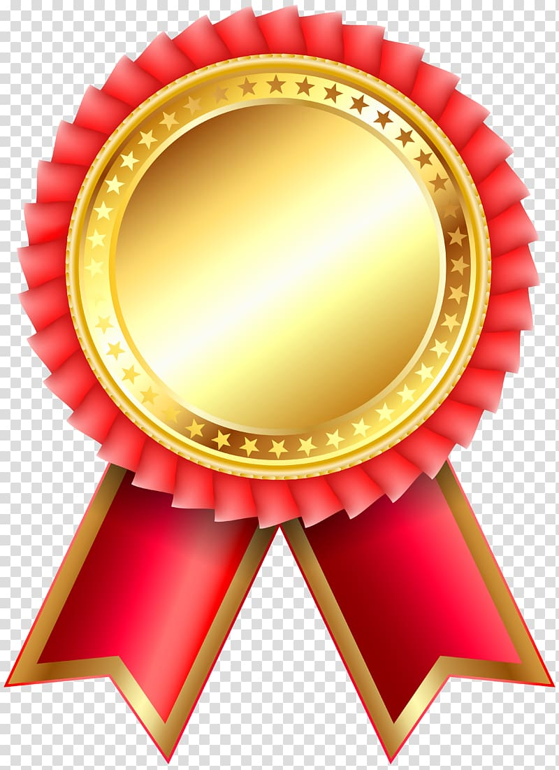 Medal clipart red. And beige ribbon illustration