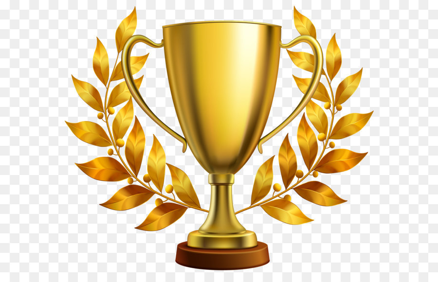 Award clipart trophy. Cup clip art gold