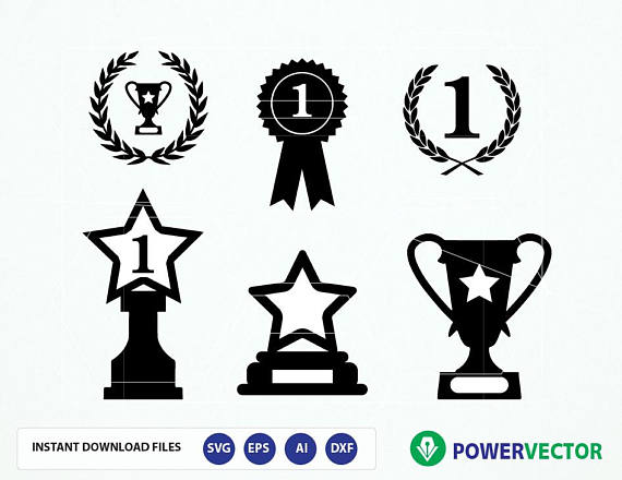 Award clipart victory. Awards svg trophy prize