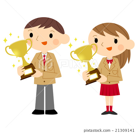 Award clipart victory. Receiving prize junior high