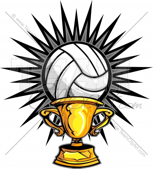 Trophy image. Award clipart volleyball