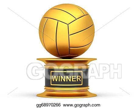award clipart volleyball