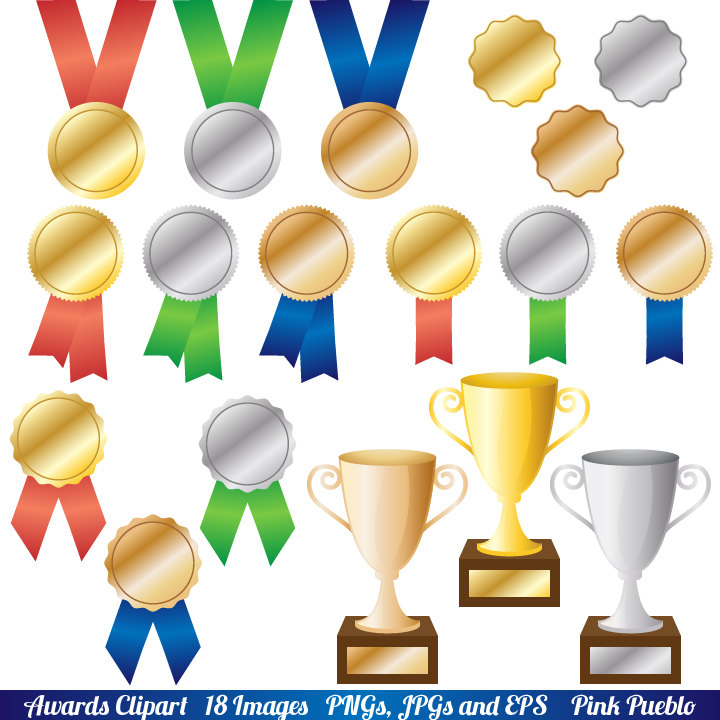 Awards clipart. Clip art trophy and