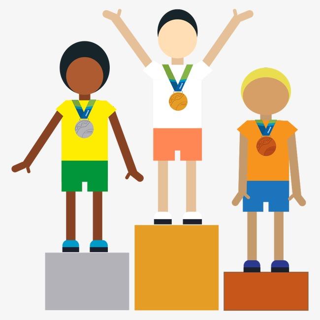 Athletic clipart athletics games. Athlete awards ceremony rio