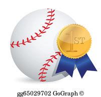 Awards clipart baseball. Vector gold award ribbons