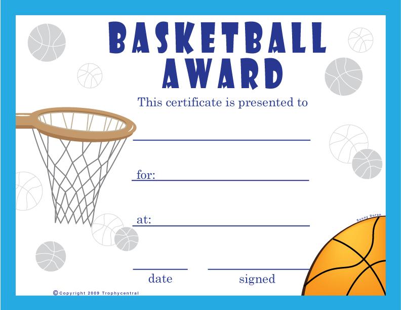 Printable incep imagine ex. Awards clipart basketball