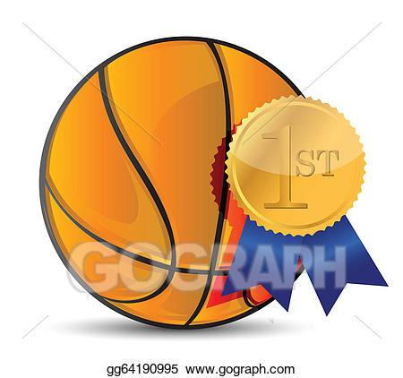 Vector art ball with. Awards clipart basketball