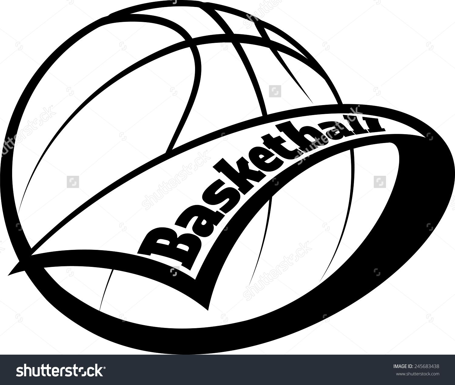 Awards clipart basketball. Stylized with a pennant