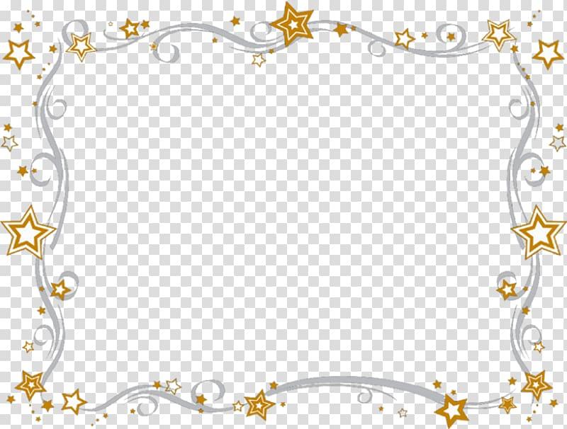 Orange and white stars. Awards clipart borders