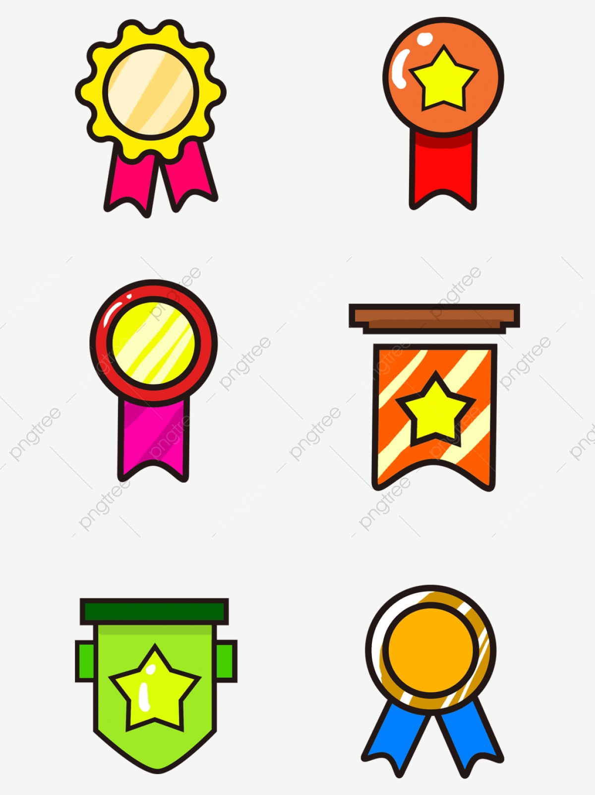 Badge clipart cute. Commercial hand drawn badges