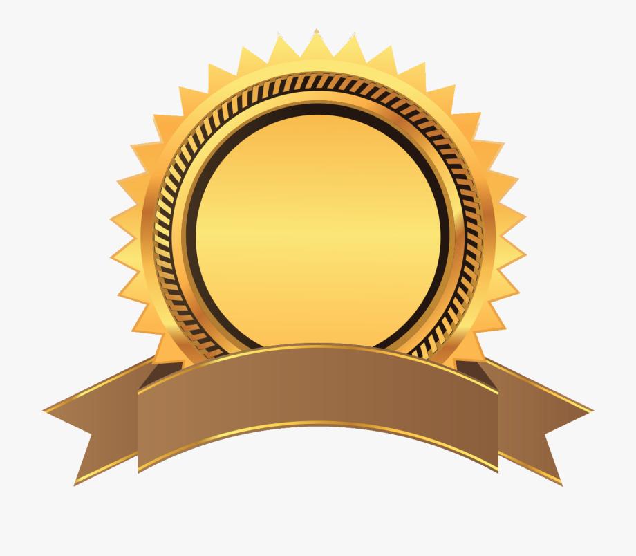 Gold ribbon award png. Awards clipart emblem