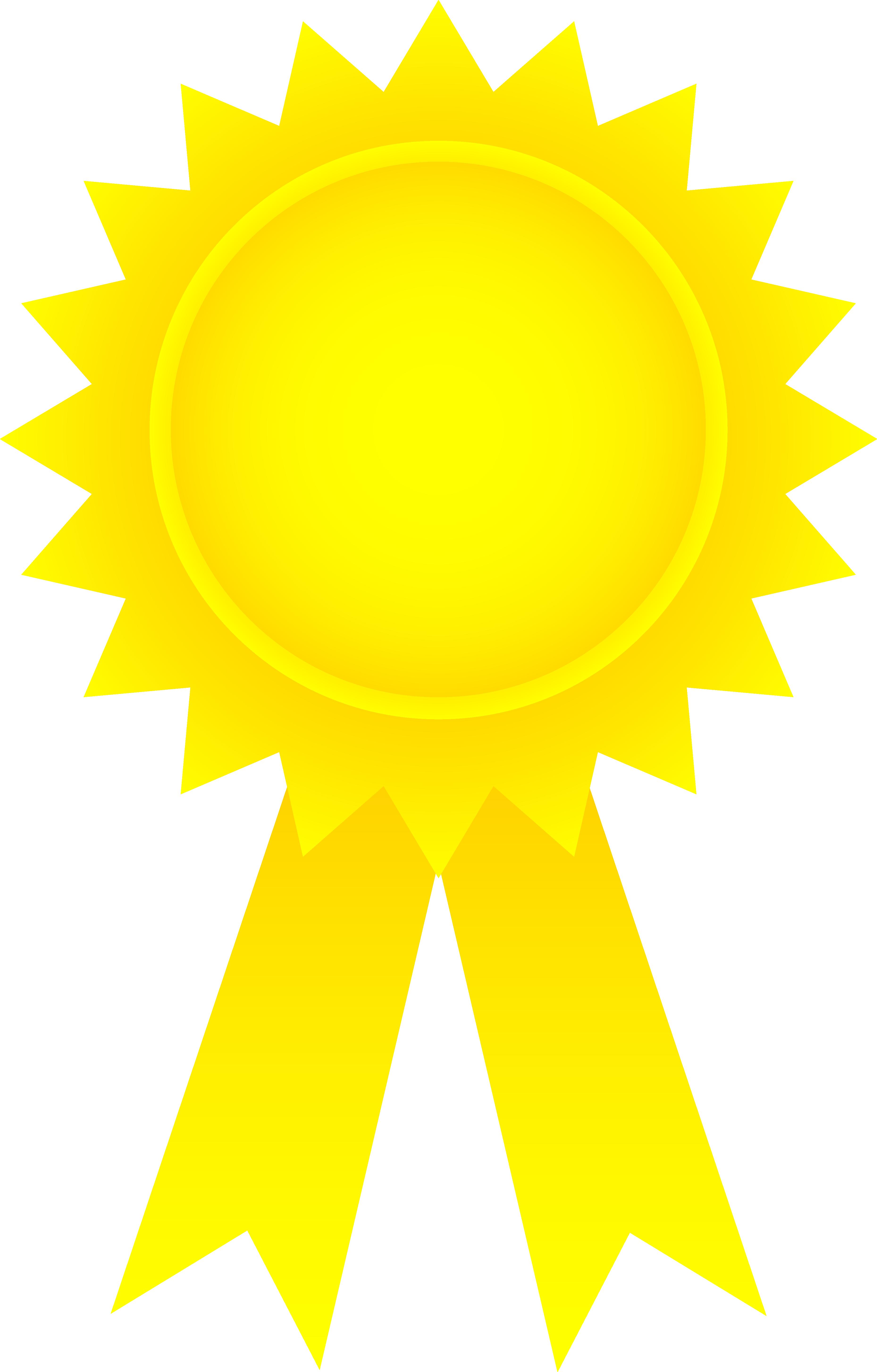 Golden award ribbon free. Awards clipart emblem