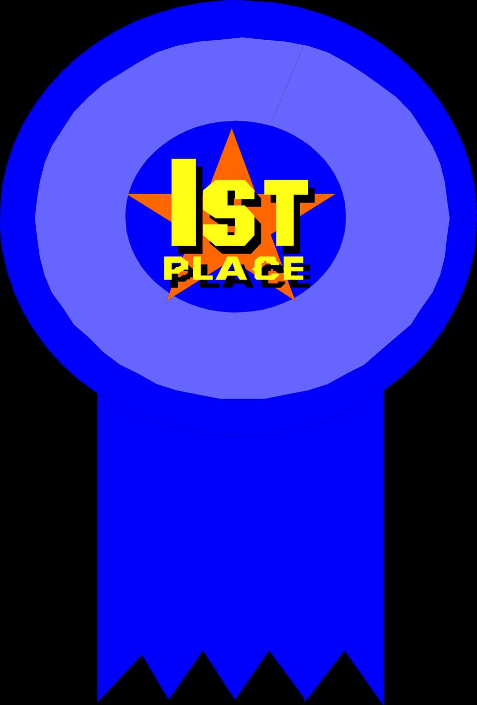 Prize clipart appreciation award.  st place ribbon