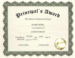 Free templates clip art. Awards clipart principal's