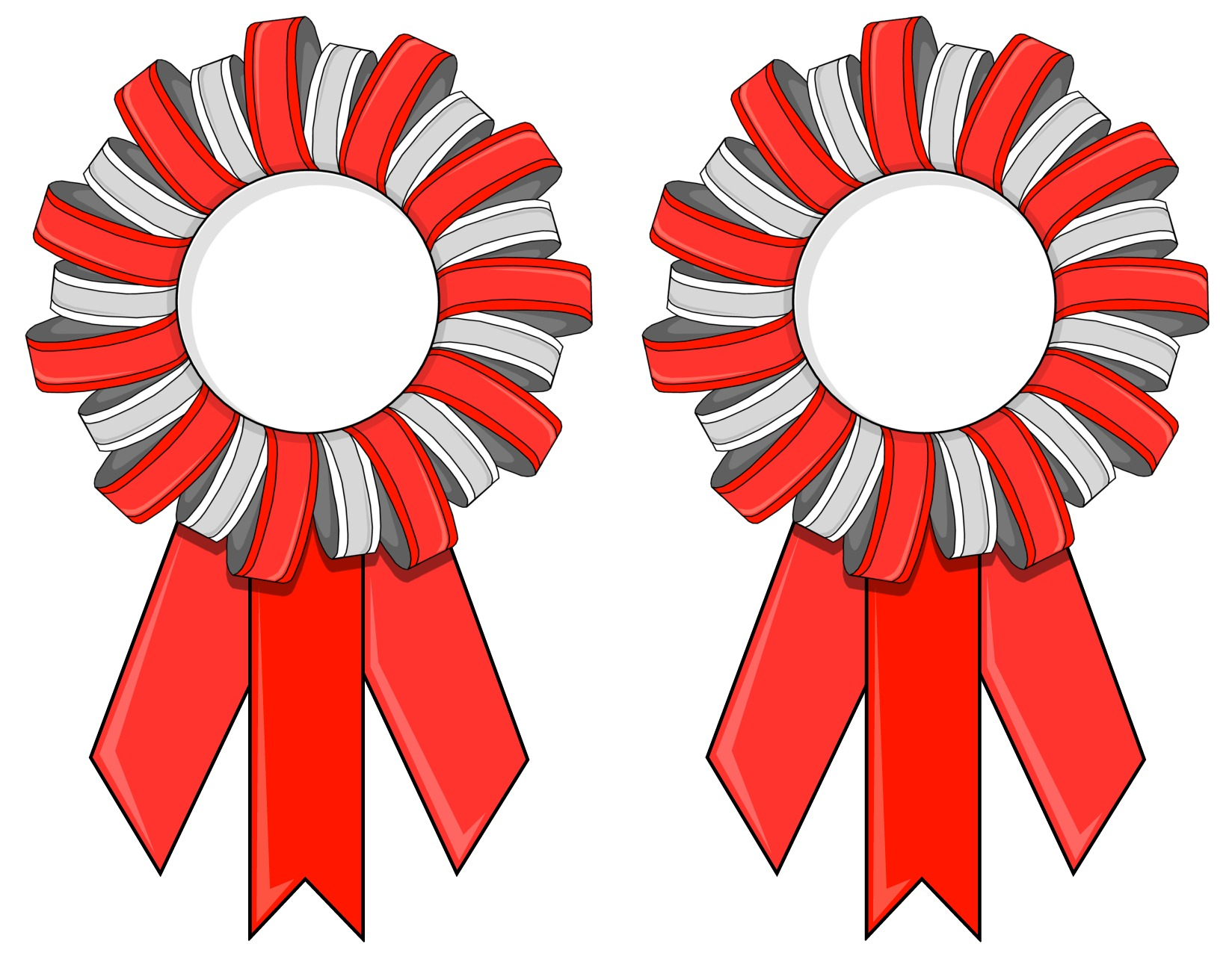Ribbons for incep imagine. Awards clipart printable