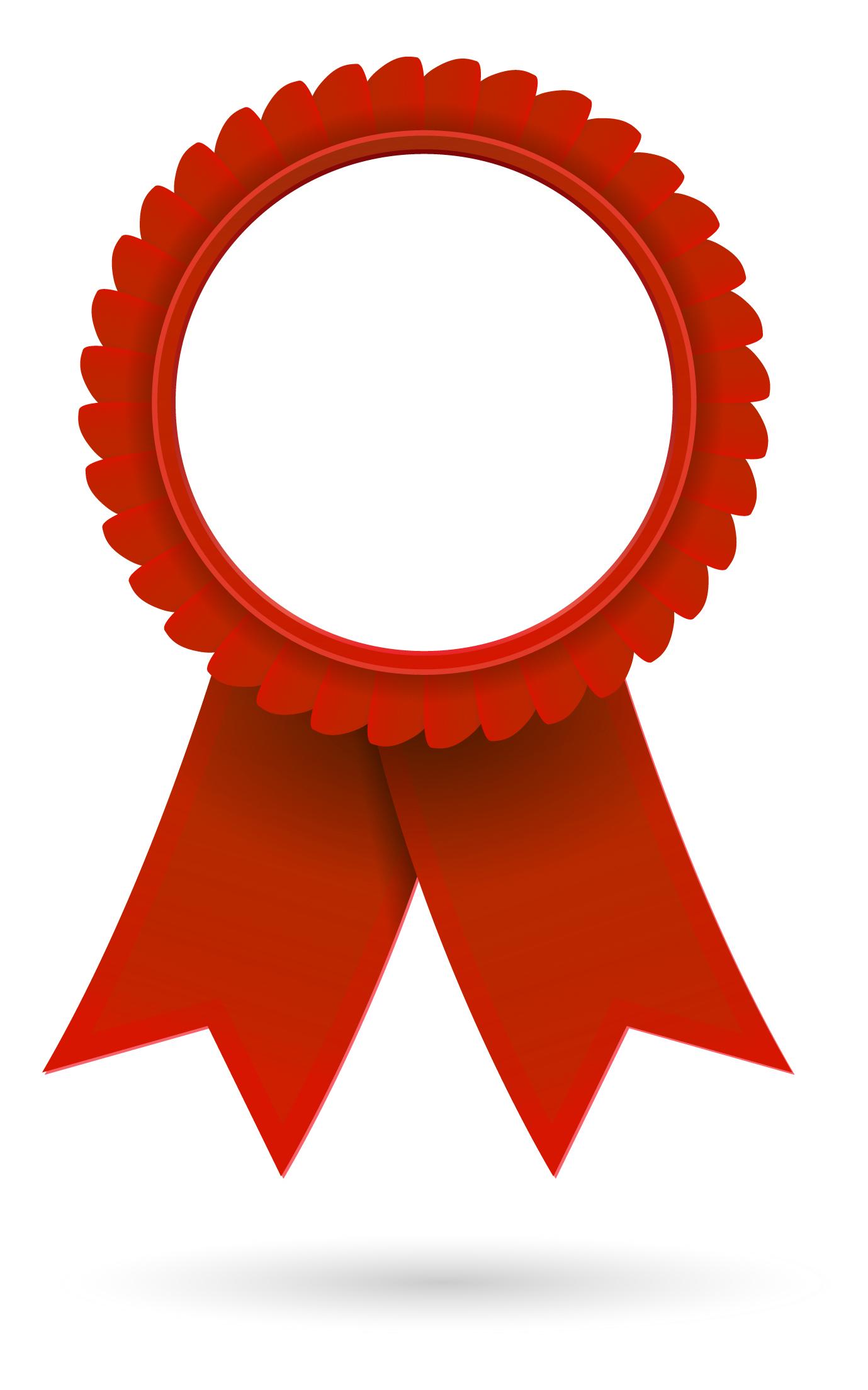 1 clipart ribbon. Red award