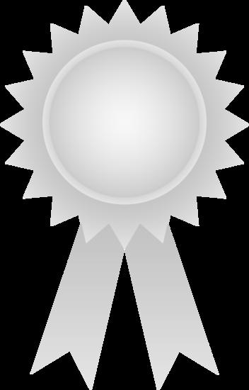 Awards clipart symbol. Silver award ribbon free
