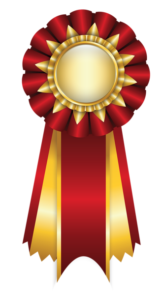 Badge clipart ribbon. Red rosette png picture