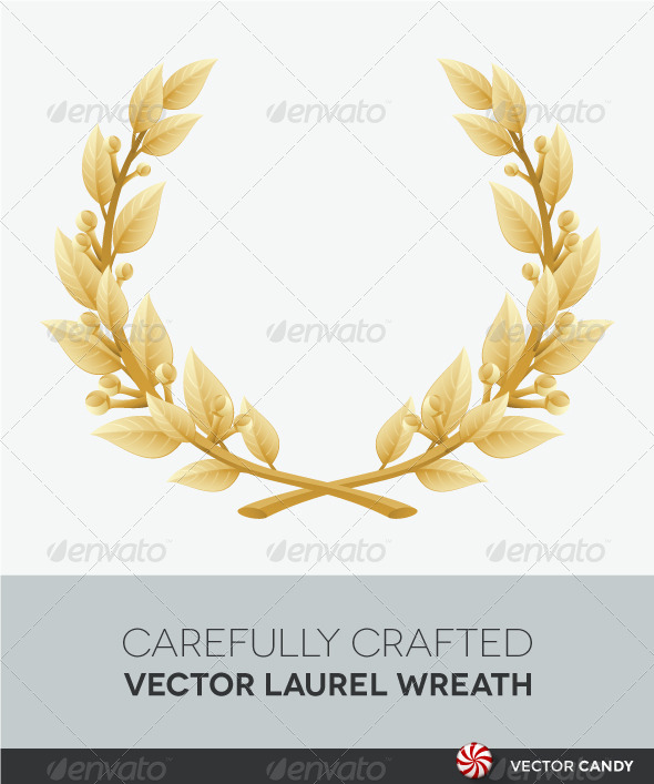 Laurel wreath or quality. Awards clipart victory