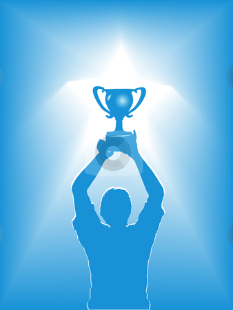 Awards clipart victory. Star trophy silhouette stock