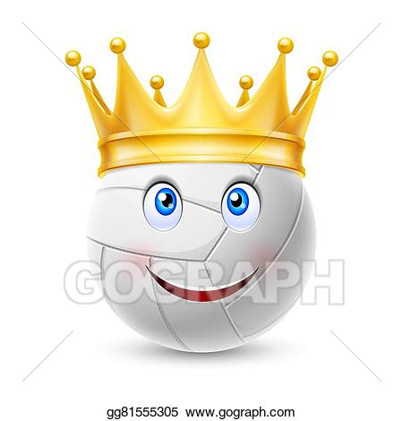 Vector art gold crown. Awards clipart volleyball