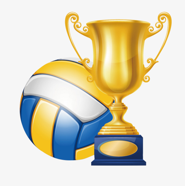 Championship trophy victory game. Awards clipart volleyball