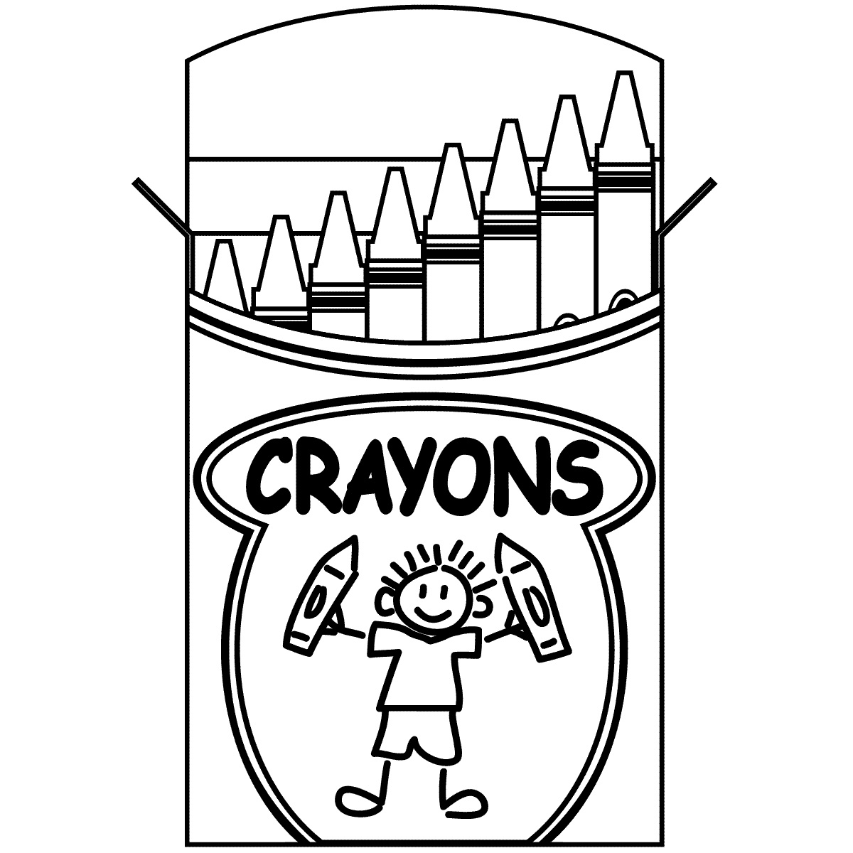 Awesome clipart black and white. Crayon design digital p