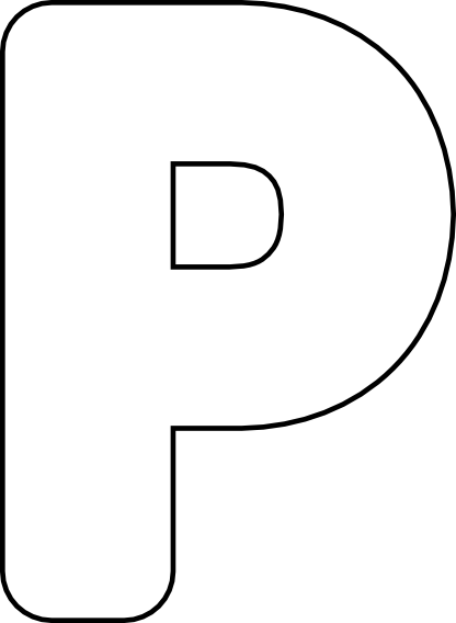 Letter p free clip. Number 3 clipart bubble writing