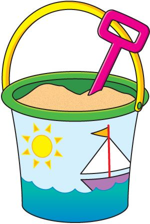 Bucket clipart pail. Sand black and white