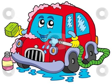 Cartoon . Awesome clipart car wash