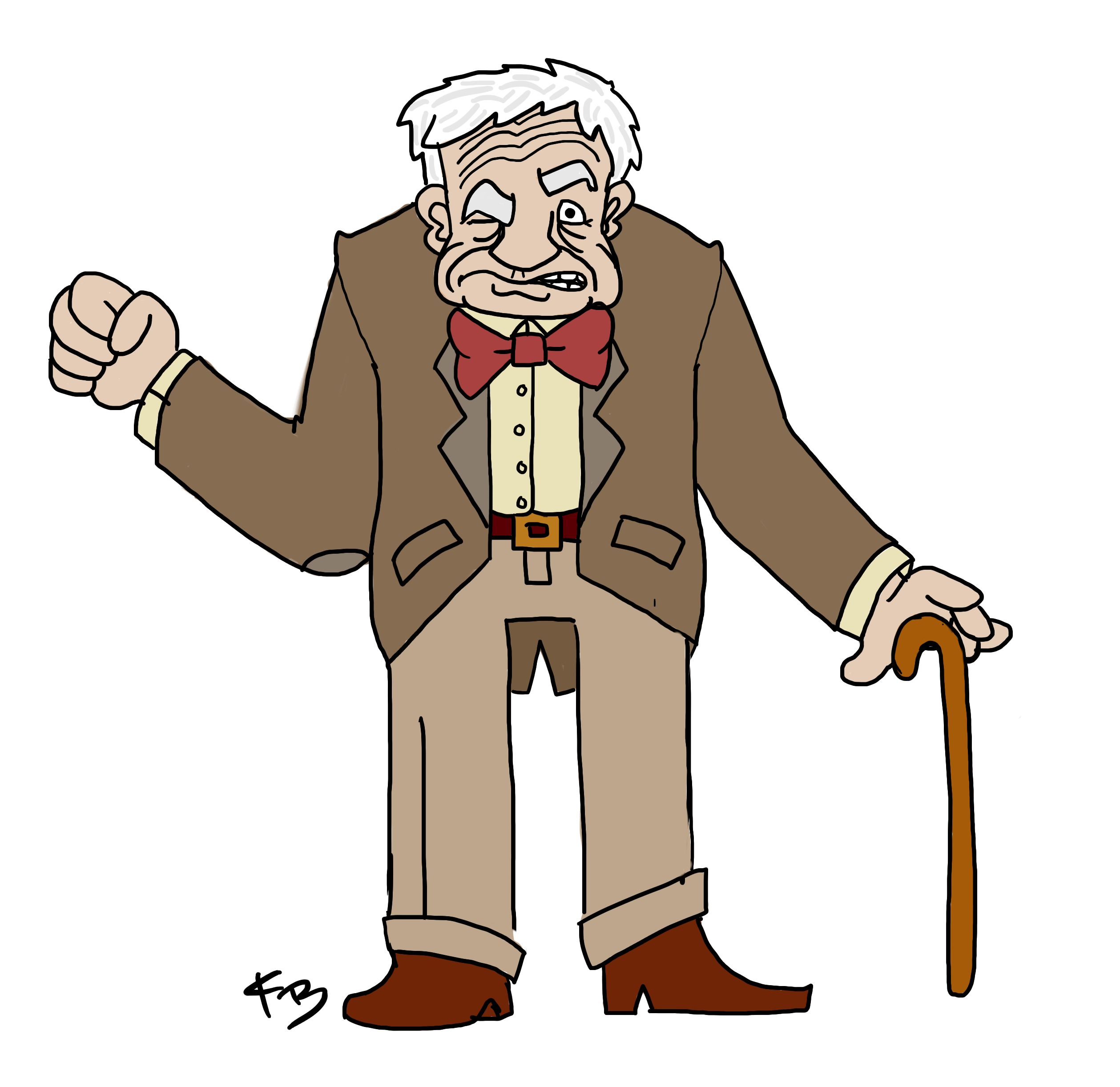 Super cool old man. Awesome clipart cartoon