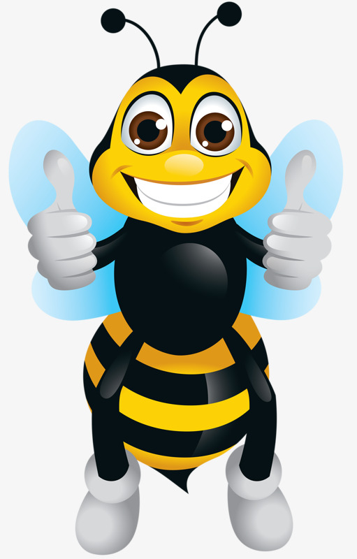 Awesome clipart cartoon. Thumbs bees you are