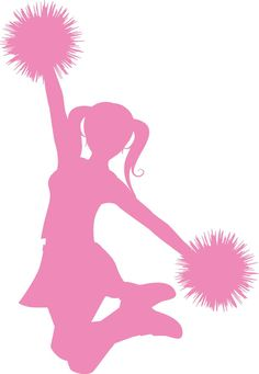 Free cheer sillohette clip. Awesome clipart cheerleader