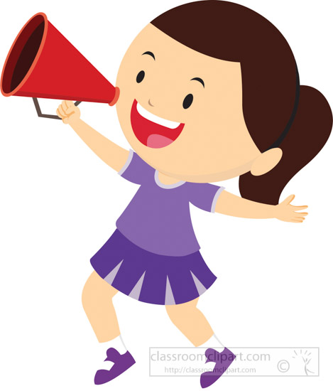 Megaphone clipart. Cheerleader awesome to do