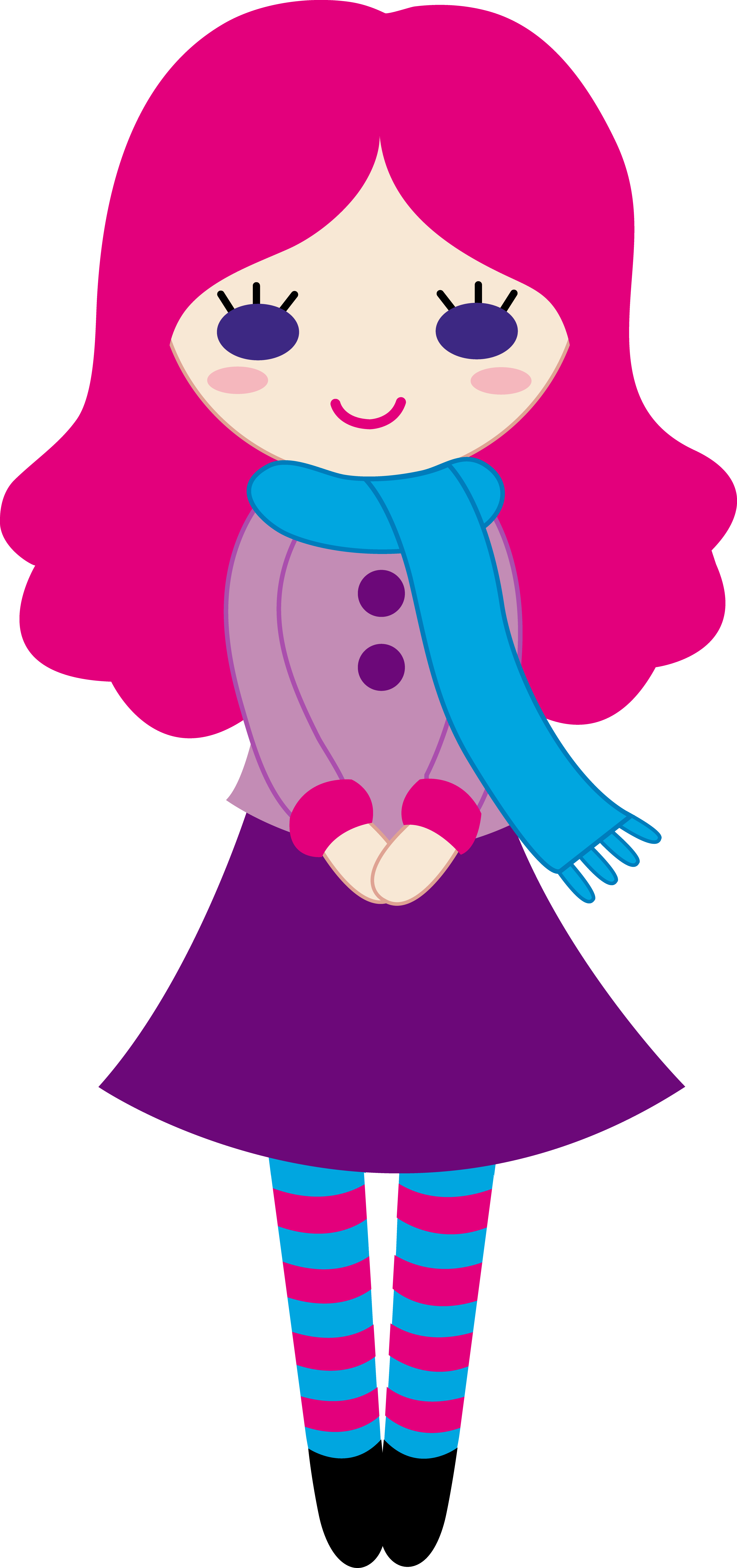 awesome cute girl. Pilot clipart scarf