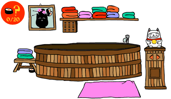 Cat in japan play. Awesome clipart cool math