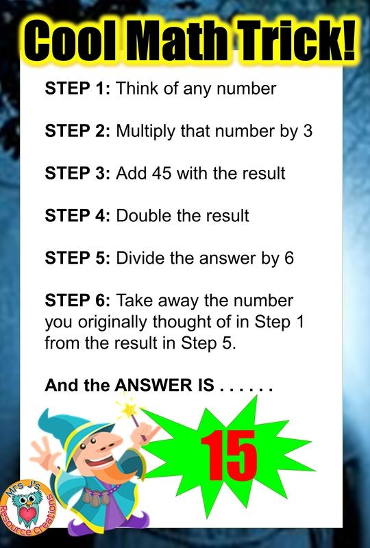 Trick to get your. Awesome clipart cool math