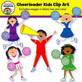 Cheerleader kids clip art. Awesome clipart good behavior