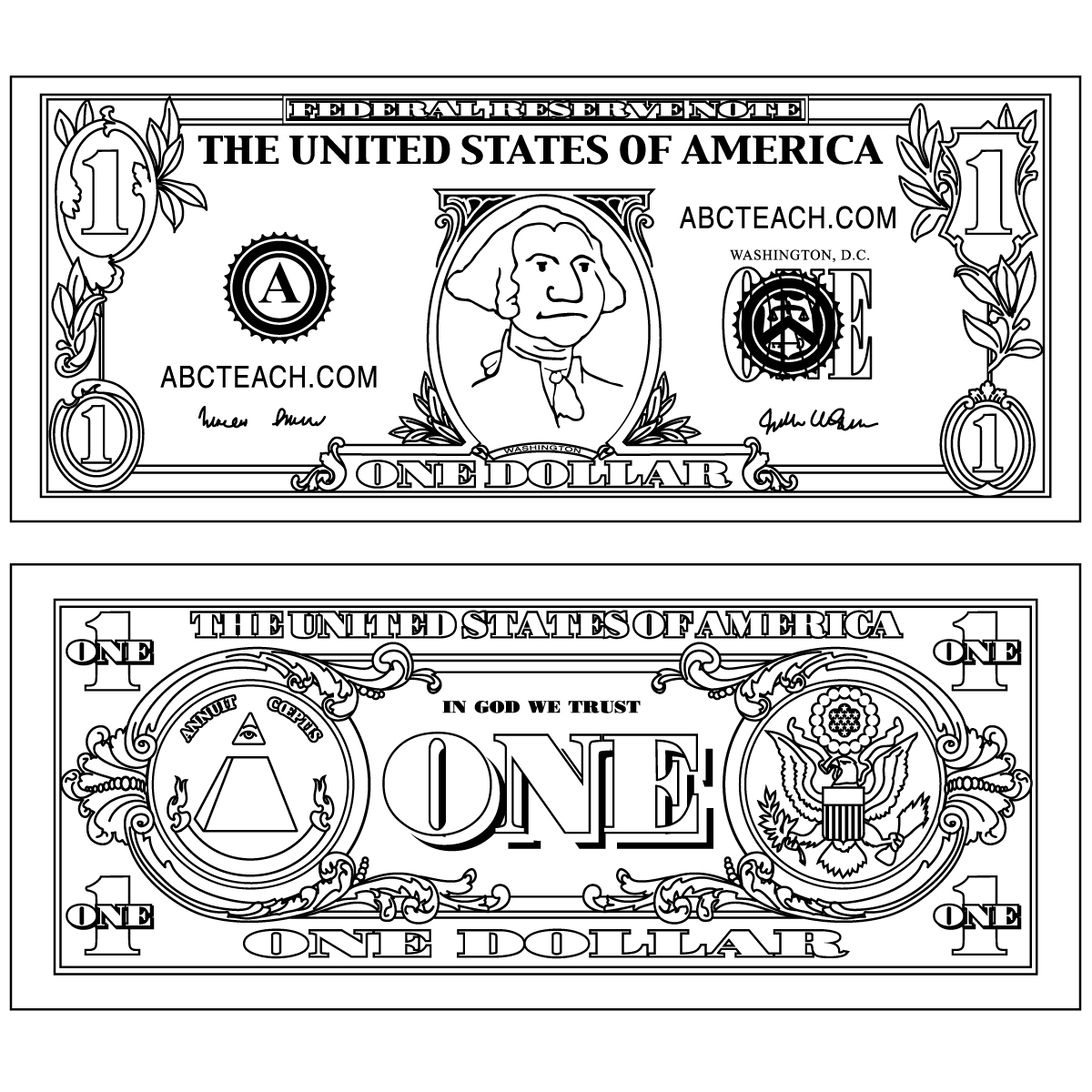 Coloring pictures of money. Awesome clipart impressive