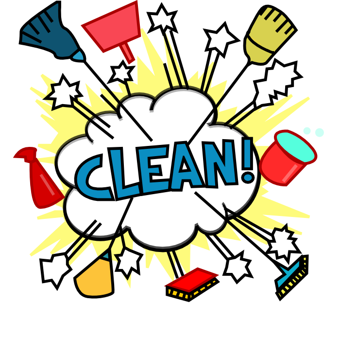 Cleaning lady cartoon cliparts. Clipart kitchen woman