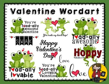 Toad ally valentine words. Awesome clipart surprise word