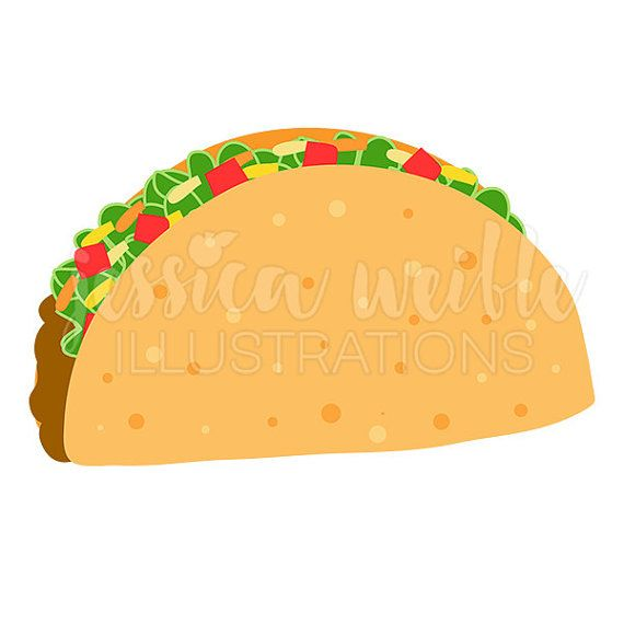 Crunchy taco cute digital. Burrito clipart hispanic woman