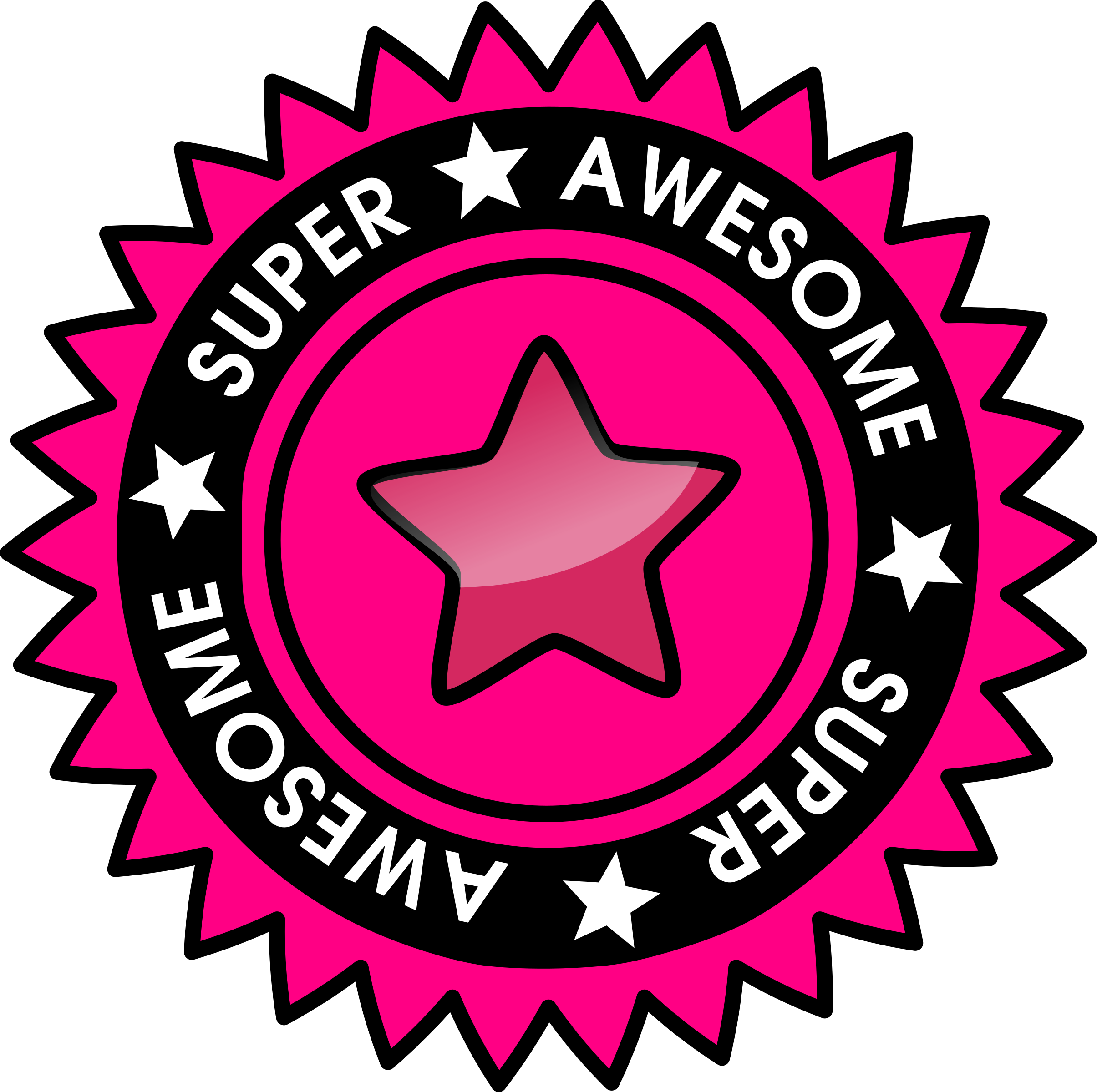 Awesome clipart transparent. Super badge icons png