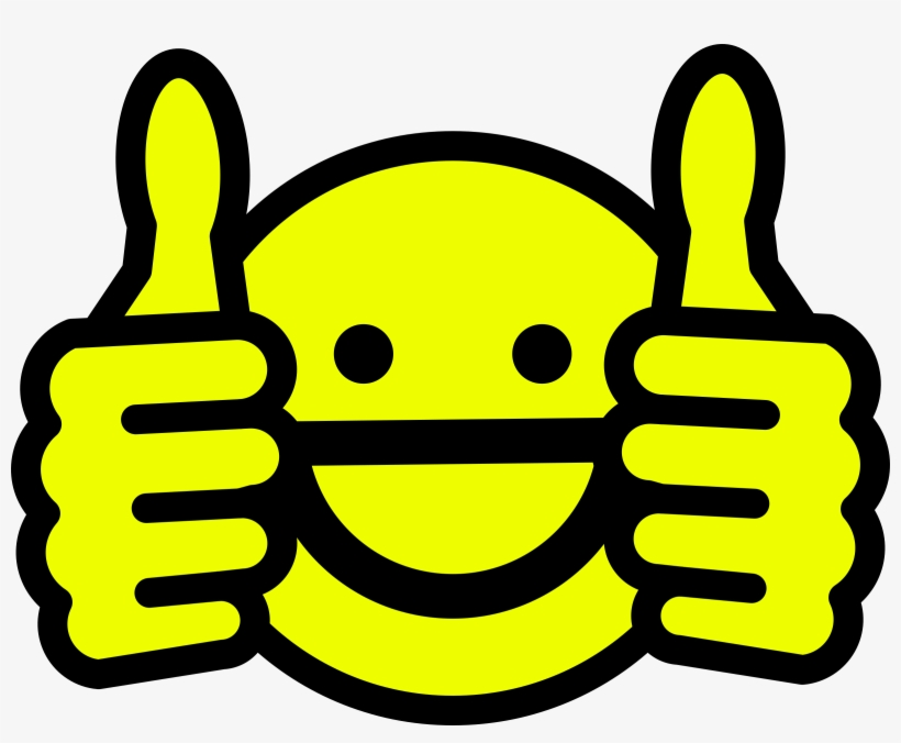 Happy face thumbs up. Awesome clipart transparent