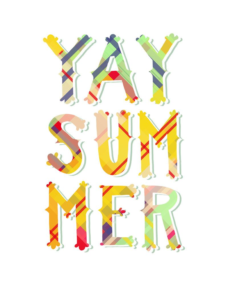 Summer print x wall. Awesome clipart yay