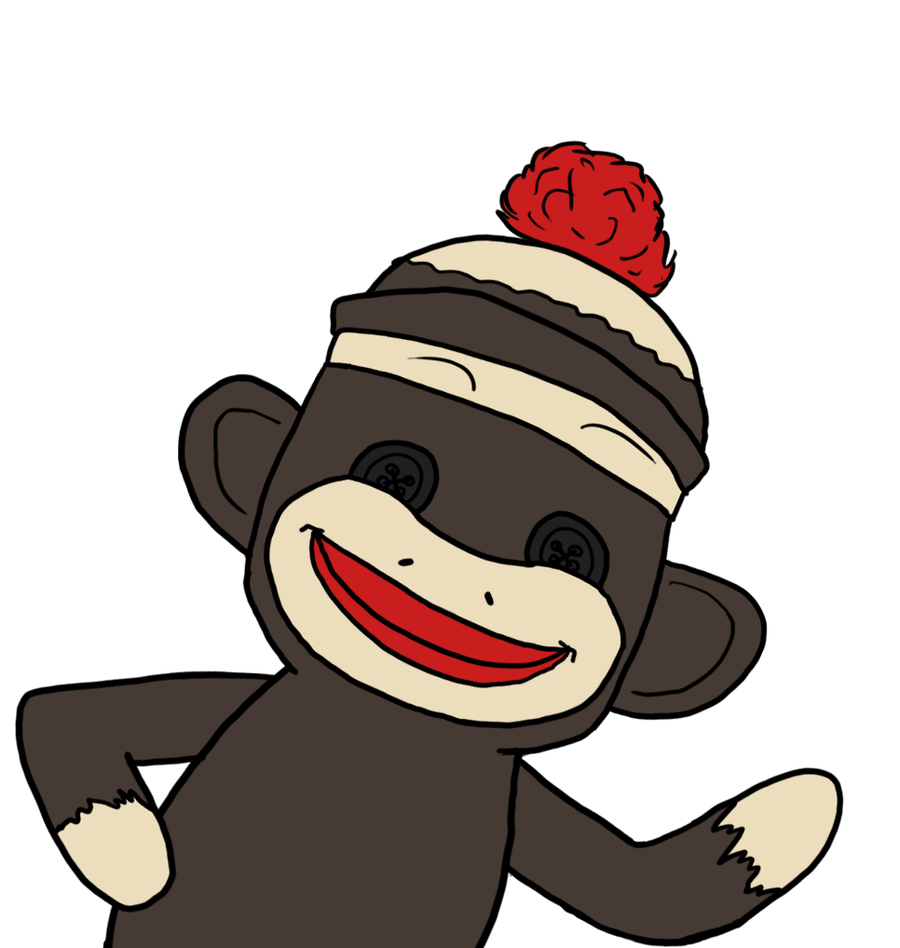 Awesome clipart yay. Free sock monkey clip