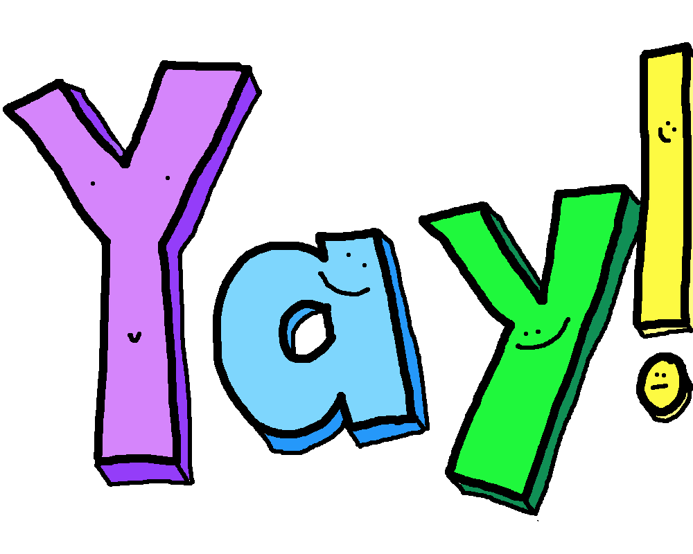 Awesome clipart yay. You did it free