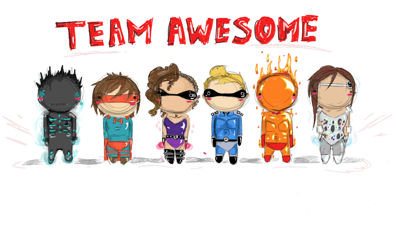 Awesome clipart yay.  collection of team