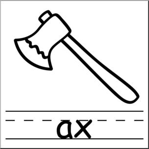 Clip art basic words. Ax clipart